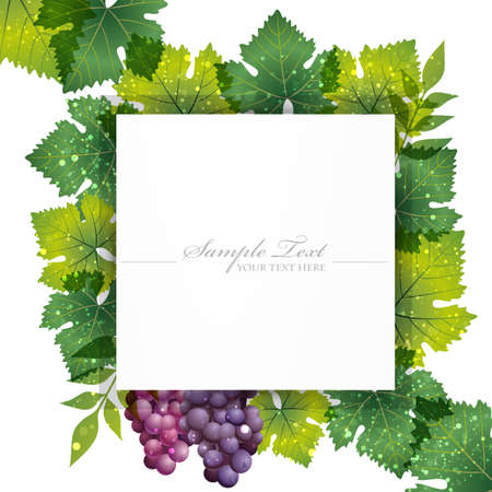 nostalgia: grape background Illustration