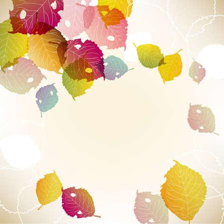 落ち葉の背景  イラスト・ベクター素材