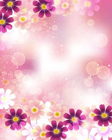 brightness: cosmoses background