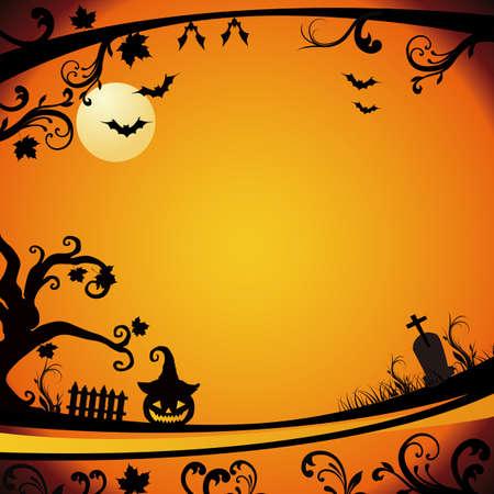 calabazas de halloween: halloween fondo Vectores
