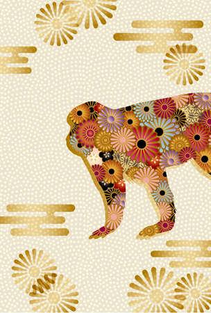 japanese flower: monkey background