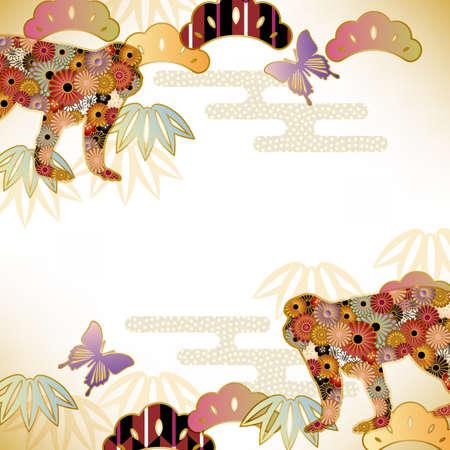 flores chinas: fondo mono