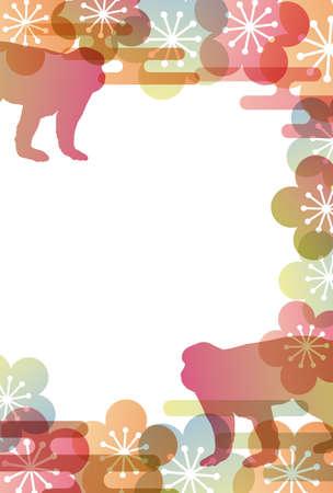 japanese apricot: monkey background