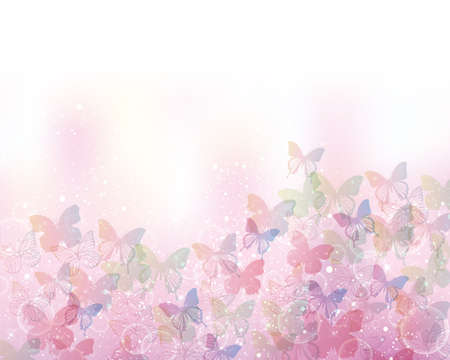 multiple image: background of butterflies Illustration