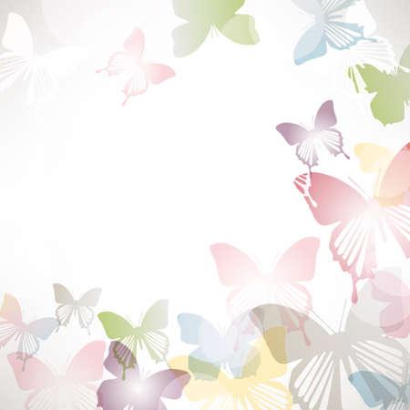 background of butterflies Vettoriali