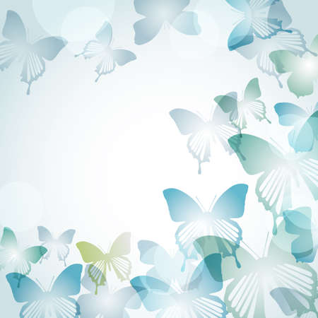copy space: background of butterflies Illustration