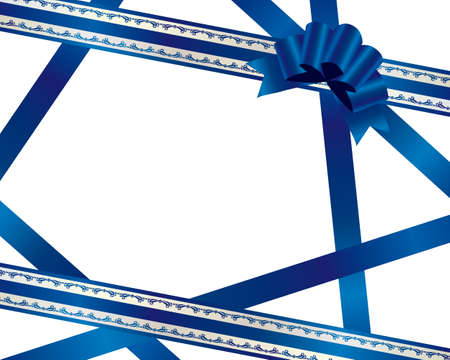 materials: blue ribbon background