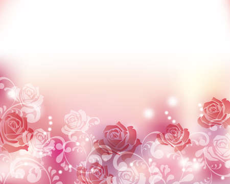 rose background Stock Vector - 51987162