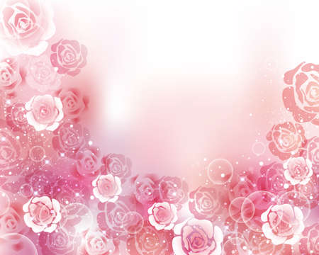 abstract art background: rose background