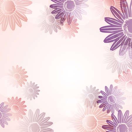 background of daisy Иллюстрация