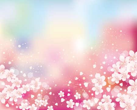 wiśniowy kwiat w tle Ilustracje wektorowe