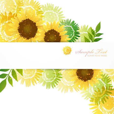 Achtergrond van de volledige bloei van Zonnebloemen Stock Illustratie