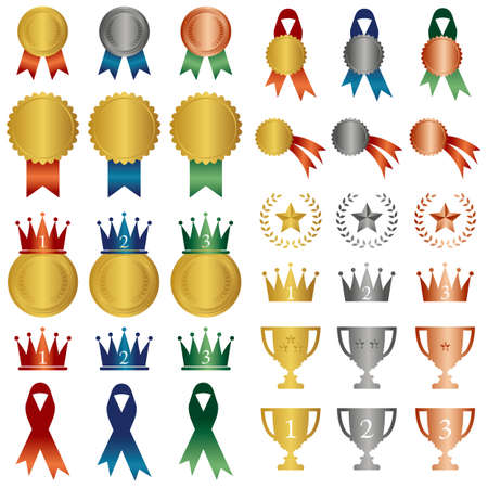 star award: set of ranking icon Illustration
