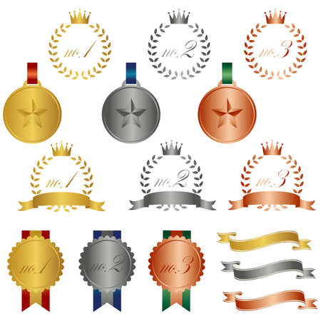 set of ranking icon Illustration