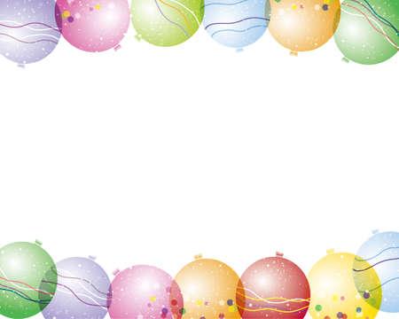 vector background of yo-yo balloon