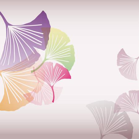 illustration background of ginkgo leaf