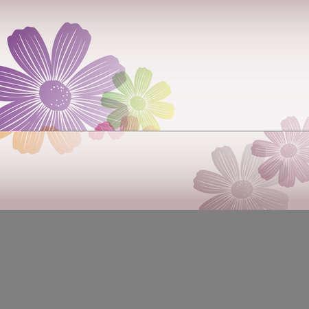 vector illustration background of cosmoses Ilustração