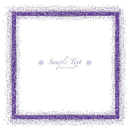 vector frame of violet glitter