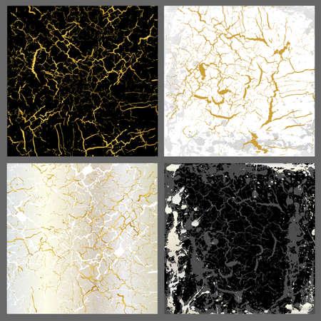 Marble  set of gold mix Ilustração