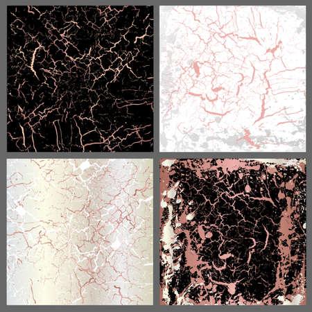 Marble  set of pink mix Ilustração