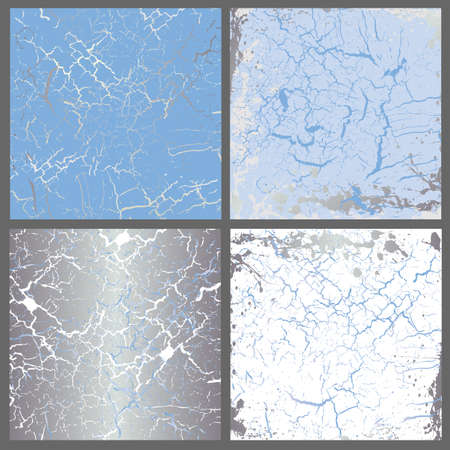 Marble  set of light blue mix