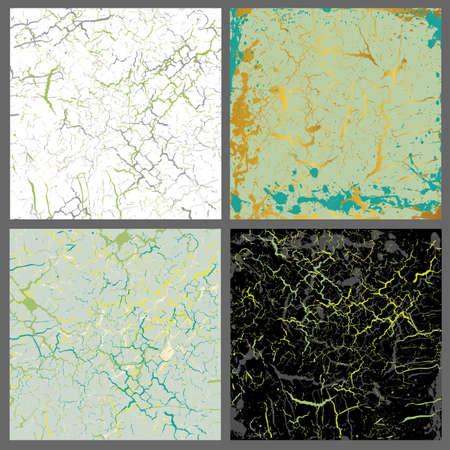 Marble  set of light green mix Ilustração
