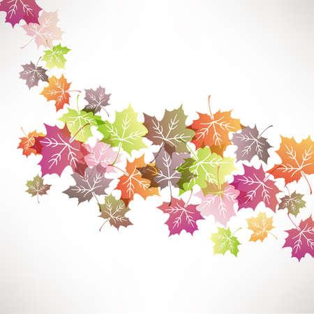 Abstract of colorful maple Ilustração