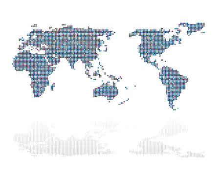 Zusammenfassung der Weltkarte