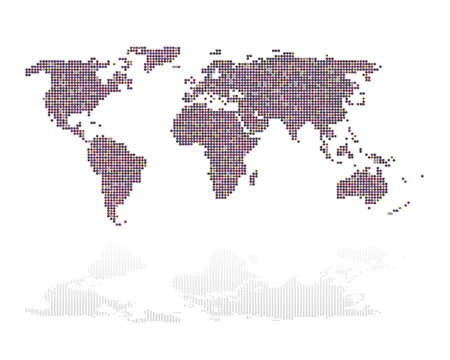 Abstract of world map