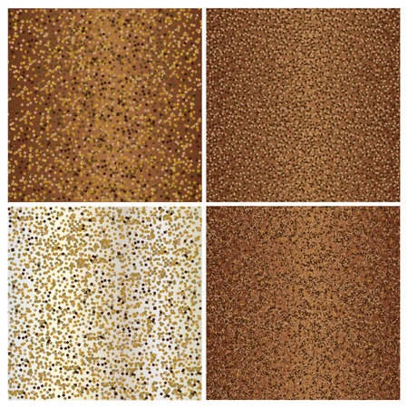 Set of brown glittering