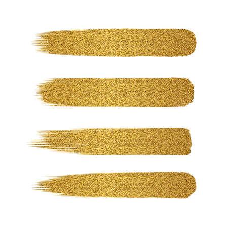 Set of golden glitter brush