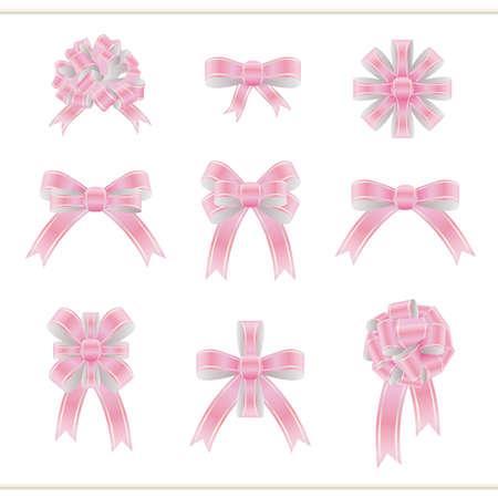 Set of ribbons Illusztráció