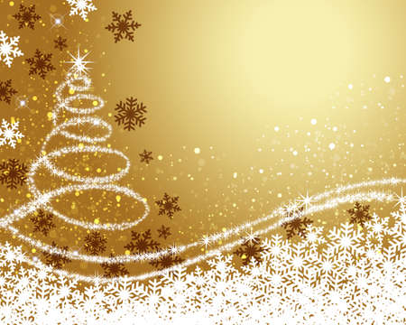 Background illustration of christmas tree Imagens - 132096367