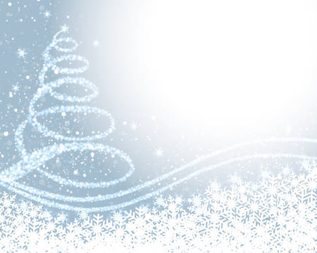 Background illustration of christmas tree