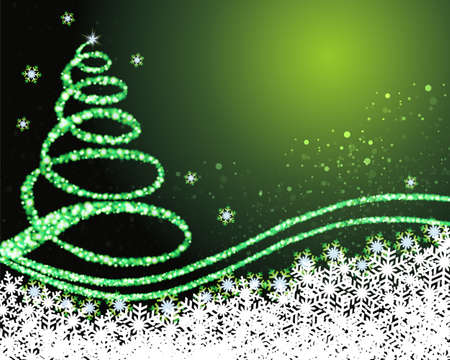 Background illustration of christmas tree