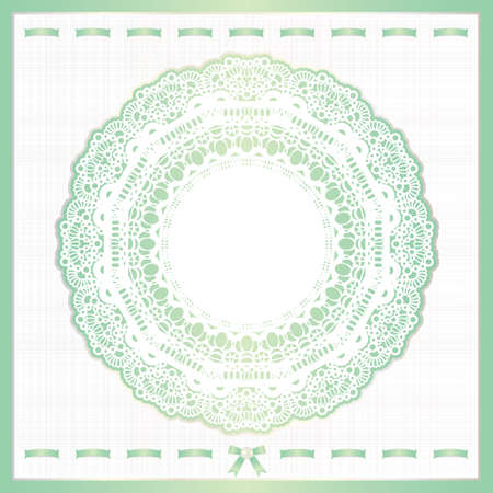 background design of lace and ribbon