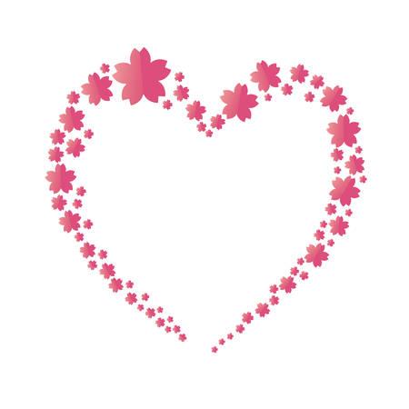 background illustration of cherry blossoms frame