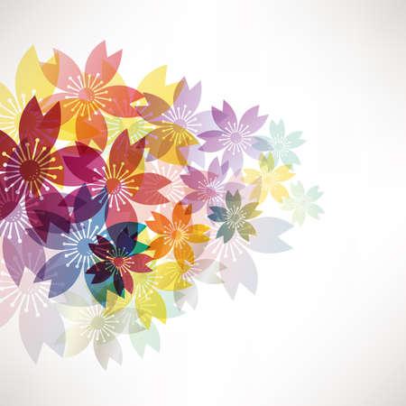 background illustration of cherry blossoms Foto de archivo - 138598461