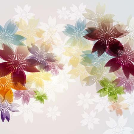 background illustration of cherry blossoms Foto de archivo - 139712051