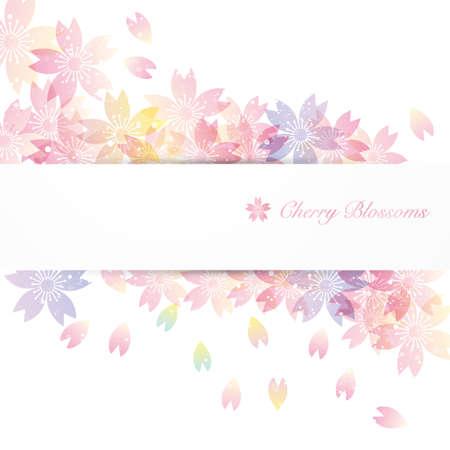 background illustration of cherry blossoms Foto de archivo - 140517395