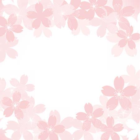 background illustration of cherry blossoms Foto de archivo - 140797123