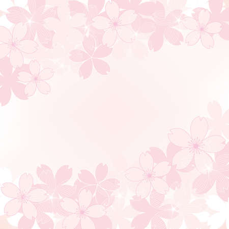 background illustration of cherry blossoms