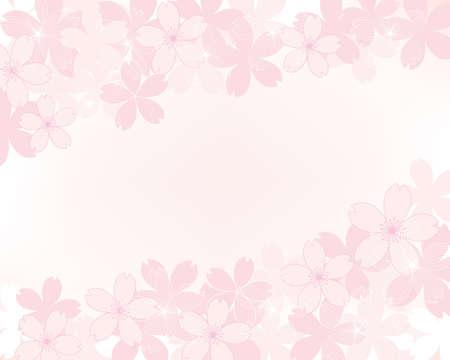 background illustration of cherry blossoms Foto de archivo - 140797125