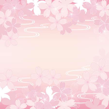 background illustration of cherry blossoms Foto de archivo - 140797122