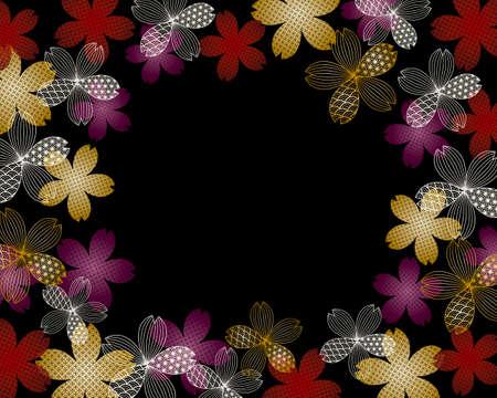 background illustration of cherry blossoms Foto de archivo - 141827710