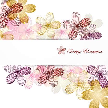 background illustration of cherry blossoms Foto de archivo - 141957586