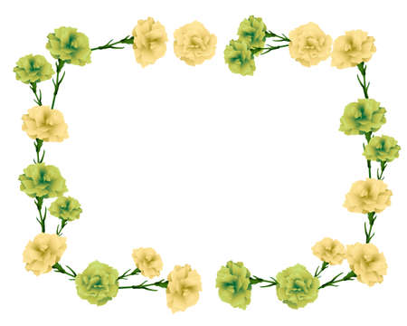 rectangular frame of carnations illustration Foto de archivo - 142275323
