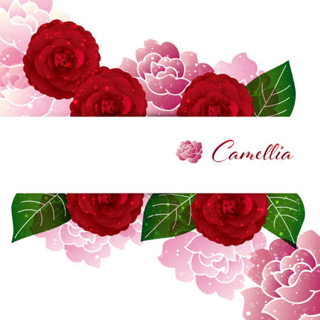 background illustration of Camellia decorations