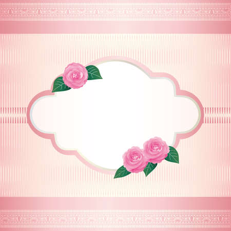 Background illustration of Camellia decorations Foto de archivo - 143996782