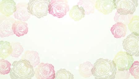 vector background  of Camellia illustration Foto de archivo - 144591584